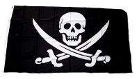 Fahne / Flagge Pirat Säbel Jack Rackham 90 x 150 cm
