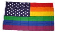 Fahne / Flagge USA - Regenbogen 90 x 150 cm