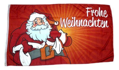 Fahne / Flagge Frohe Weihnachten Weihnachtsmann rot 60 x 90 cm ...