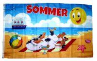 Fahne / Flagge Sommer Möwen Strand 90 x 150 cm
