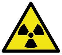 Aufkleber Sticker Radioaktiv