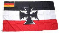 Fahne / Flagge Gösch der Kriegsschiffe 90 x 150 cm