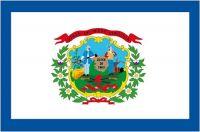 Fahnen Aufkleber Sticker USA - West Virginia