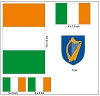 Fahnen Aufkleber Set Irland