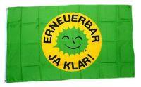 Fahne / Flagge Erneuerbar Ja Klar! 90 x 150 cm