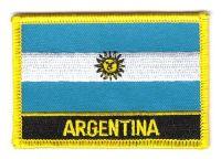 Fahnen Aufnäher Argentinien Schrift