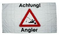 Fahne / Flagge Achtung Angler 90 x 150 cm