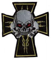 Aufnäher Patch Totenkopf Kreuz
