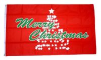 Fahne / Flagge Merry Christmas Weihnachtsbaum 90 x 150 cm