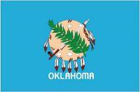 Fahnen Aufkleber Sticker USA - Oklahoma