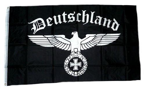 Flagge Fahne Deutsches Reich Eisernes Kreuz Adler Hissflagge 90 x 150 cm