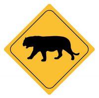 Aufkleber Sticker Achtung Tiger Autoaufkleber