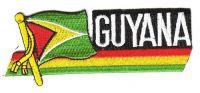 Fahnen Sidekick Aufnäher Guyana