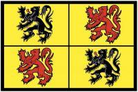 Fahnen Aufkleber Sticker Belgien - Hennegau