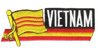 Fahnen Sidekick Aufnäher Vietnam