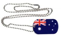 Dog Tag Fahne Australien