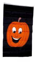 Fahne / Flagge Halloween Kürbis Black 90 x 150 cm