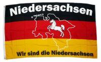 Fahne / Flagge Wir sind Niedersachsen 90 x 150 cm