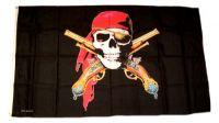 Fahne / Flagge Pirat Revolver  90 x 150 cm