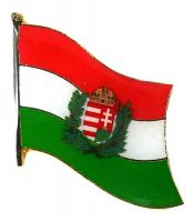 Flaggen Pin Ungarn Wappen NEU Fahne Flagge Anstecknadel