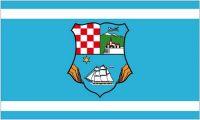 Fahne / Flagge Kroatien - Primorje Gorski Kotar 90 x 150 cm