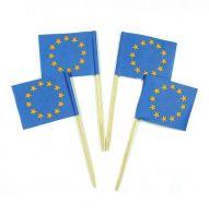 50 Minifahnen Dekopicker Europa 30 x 40 mm
