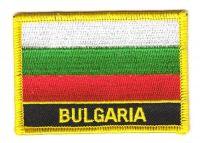 Fahnen Aufnäher Bulgarien Schrift