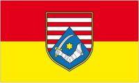 Fahne / Flagge Kroatien - Karlovac 90 x 150 cm