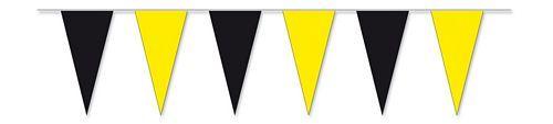 Wimpelkette schwarz / gelb 4 m