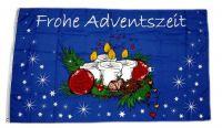 Fahne / Flagge Frohe Adventszeit 60 x 90 cm