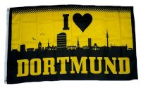 Fahne / Flagge I Love Dortmund 150 x 250 cm
