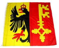 Flagge / Fahne Schweiz - Genf 120 x 120 cm