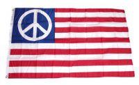 Fahne / Flagge USA - Peace 90 x 150 cm