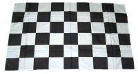 Fahne / Flagge Start / Ziel Karo schwarz / weiß 30 x 45 cm