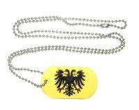 Erkennungsmarke Heiliges Römisches Reich Dog Tag 30 x 50 mm Fahnen Flaggen