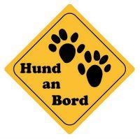 Aufkleber Sticker Achtung Hund an Bord Autoaufkleber