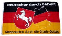 Fahne / Flagge Niedersachse durch die Gnade Gottes 90 x 150 cm