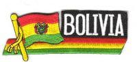 Fahnen Sidekick Aufnäher Bolivien