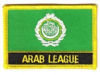 Fahnen Aufnäher Arabische Liga Schrift