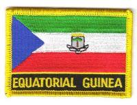 Fahnen Aufnäher Äquatorialguinea Schrift