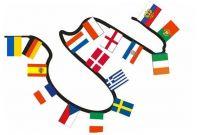 Europäische Flaggenkette 12 m