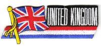 Fahnen Sidekick Aufnäher Großbritannien