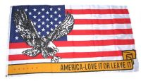 Fahne / Flagge USA - Love it or Leave it! 90 x 150 cm