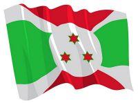 Fahnen Aufkleber Sticker Burundi wehend