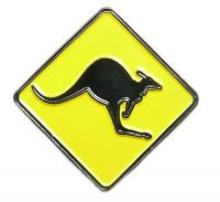 Pin Australien Känguruh Schild Anstecker NEU Anstecknadel