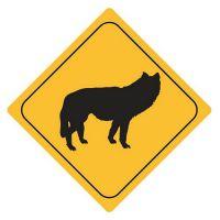 Aufkleber Sticker Achtung Wolf Autoaufkleber
