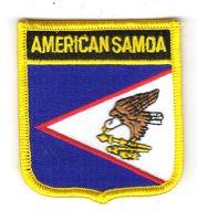 Wappen Aufnäher Fahne Amerikanisch Samoa