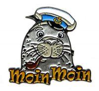 Pin Seehund Moin Moin Anstecker NEU Anstecknadel