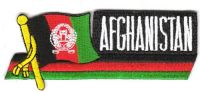 Fahnen Sidekick Aufnäher Afghanistan