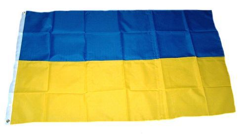 Flagge / Fahne Ukraine Hissflagge 90 x 150 cm